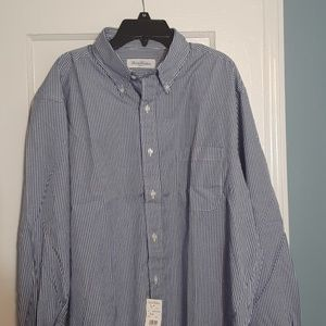 Brooks Brothers Dress Shirt Blue Checked 16 1/2